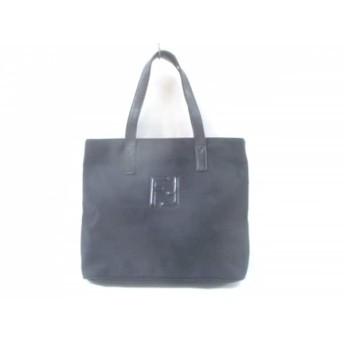 【中古】 フェンディ FENDI ハンドバッグ - - 黒 ナイロン レザー