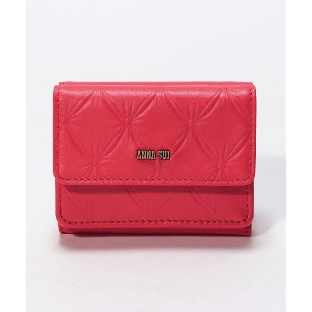 アナスイ フラワーリップ三つ折りミニ財布 レディース オレンジ FREE 【ANNA SUI】