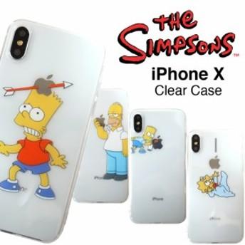 SALE メール便 送料無料 シンプソンズ iPhone クリアケース iPhoneSE iPhone6s iPhone7 iPhone8 iPhoneX バート ホーマー