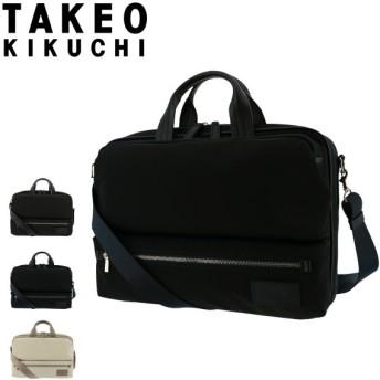 タケオキクチ ブリーフケース サーキュラー メンズ774501 TAKEO KIKUCHI | ビジネスバッグ A4 撥水 軽量 本革 レザー  [PO5]