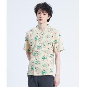 ABAHOUSE / アバハウス 【展開店舗限定】フラミンゴ柄 オープンカラー 半袖シャツ