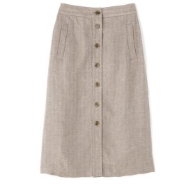 [マルイ]【セール】高密麻ヘリンボーンボタンディテールスカート/ヒューマンウーマン(HUMAN WOMAN)