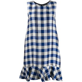 Antonelli ギンガム ドレス - ブルー