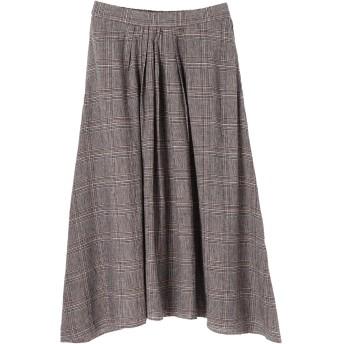 【5,000円以上お買物で送料無料】・イレヘムタックフレアスカート
