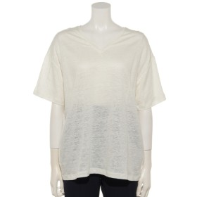 74%OFF equo (エクオ) アントワープ天竺VネックTシャツ ホワイト
