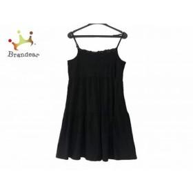 ホコモモラ JOCOMOMOLA ワンピース サイズ40 XL レディース 美品 黒 de Sybilla/刺繍     スペシャル特価 20191020