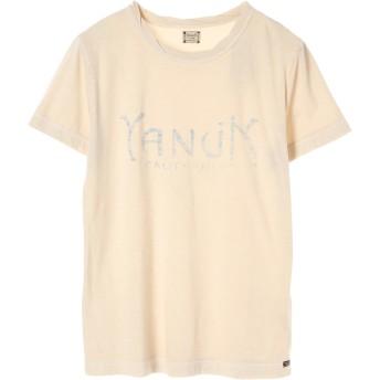 YANUK MEN ヤヌークメン YANUK(ヤヌーク) ロゴ TEE /57281504 Tシャツ・カットソー,ウォッシュアイボリー