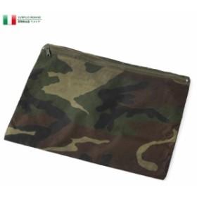 クーポンで25%OFF!実物 USED イタリア軍 リメイクポーチ WOODLAND CAMO / メンズ レディース ミリタリーバッグ ポーチ バッグインバッグ
