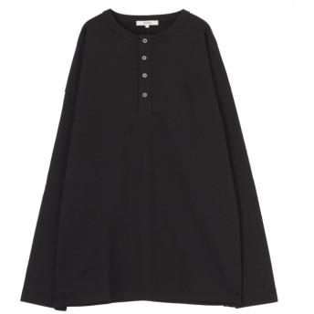 【30%OFF】 コトリカ ヘンリーネック裏毛長袖Tシャツ メンズ ブラック M 【COTORICA.】 【セール開催中】