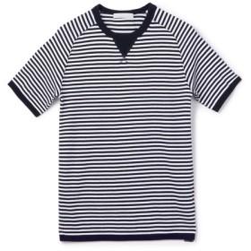 ESTNATION / 半袖フライスニットソー ダークネイビー/SMALL(エストネーション)◆メンズ Tシャツ/カットソー