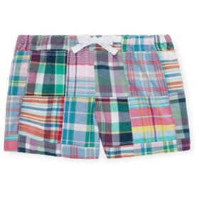 【POLO RALPH LAUREN:パンツ】(ガールズ 2才~4才)パッチワーク コットン マドラス ショートパンツ