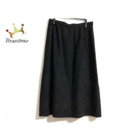 レリアン Leilian スカート サイズ11 M レディース 黒 刺繍   スペシャル特価 20190801