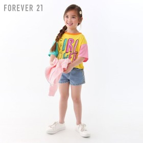 FOREVER21 フォーエバー21 【[KIDS]Girl PowerカラーブロックTシャツ】(5,000円以上購入で送料無料)
