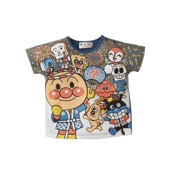 アンパンマン 暗闇で光るよ♪おまつり柄Tシャツ(男の子 女の子 子供服) Tシャツ・カットソー