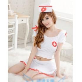 ハロウィン コスプレ ナースウェア コスチューム ワンピース 看護婦 半袖 仮装 ナースキャップ 制服 セクシー