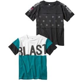 アメカジ半袖Tシャツ2枚組(男の子 子供服。ジュニア服) Tシャツ・カットソー