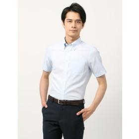 【THE SUIT COMPANY:トップス】【半袖・SUPER EASY CARE】ボタンダウンカラードレスシャツ 無地 〔EC・FIT〕