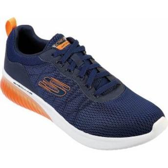 スケッチャーズ メンズ スニーカー シューズ Skech-Air Ultra Flex Walking Shoe Navy/Orange