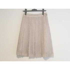 【中古】 ニジュウサンク スカート サイズ36 S レディース ライトブラウン ベージュ アイボリー レッド
