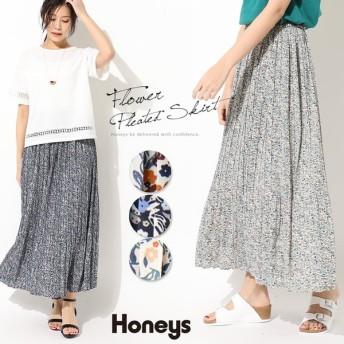 Honeys ハニーズ 小花プリーツスカート レディース