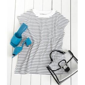 SENSE OF PLACE(センスオブプレイス) トップス Tシャツ・カットソー オーガニックコットンフレンチスリーブTシャツ
