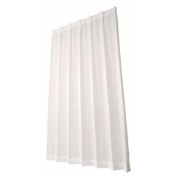 ホワイト ユニベール ビハダジョシボイル 2枚組 ミラーレースカーテン 幅100×丈198cm