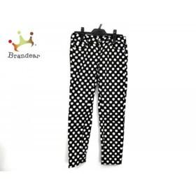 ケイトスペード Kate spade パンツ サイズ24 レディース 美品 黒×白 リンゴ     スペシャル特価 20190819
