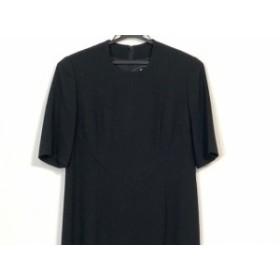 ジュンアシダ JUN ASHIDA ワンピース サイズ9 M レディース 黒 肩パッド【中古】