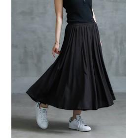 【ゆったりワンサイズ】スラブタッチスカート見えフレアガウチョパンツ (レディースパンツ)Pants, 子, 子