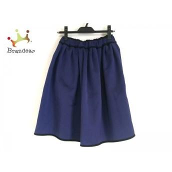 ランバンオンブルー スカート サイズ36 S レディース 美品 ネイビー×黒 ウエストゴム スペシャル特価 20190815