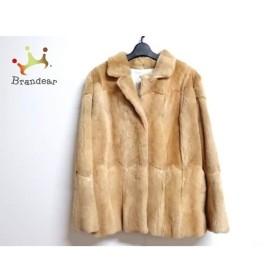 ジユウク 自由区/jiyuku コート サイズ46 XL レディース ライトブラウン 冬物/ファー 新着 20190425