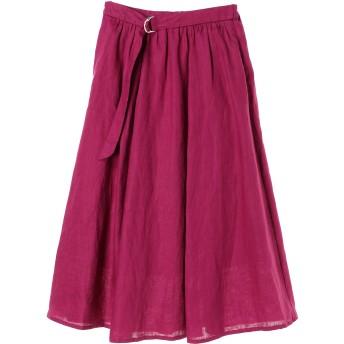JETSET SOLOPLUS ジェットセットソロプラス リネンフレアスカート ミモレ丈・ひざ下丈スカート,ピンク
