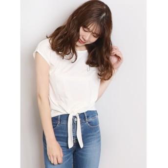 【50%OFF】 ダズリン basic ribon Tシャツ レディース オフホワイト F 【dazzlin】 【セール開催中】
