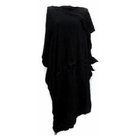 【中古】リミフゥ LIMI feu ワンピース ビッグシャツ ドルマン ロング 変形 S 黒 ブラック /KH レディース