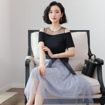 2019 レディース ワンピース 半袖 トレンド カジュアル 韓国ファッション 人気 気質