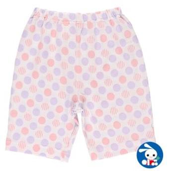 ステテコ(ドット柄)【80cm・90cm・95cm】[女の子 ステテコ すててこ 半ズボン ハーフパンツ 部屋着 ルームパンツ パジャマ キッズ 子供
