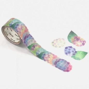 bande 1枚ずつめくれるマスキングテープ 紫陽花