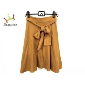 ジャスグリッティー JUSGLITTY スカート サイズ2 M レディース 美品 イエロー ベロア   スペシャル特価 20190730