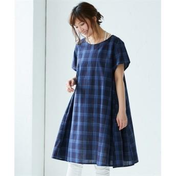 タテヨコスラブサックワンピース (ワンピース),dress