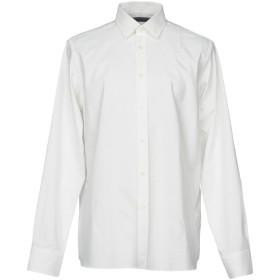 《期間限定セール開催中!》DONDUP メンズ シャツ アイボリー L コットン 100%
