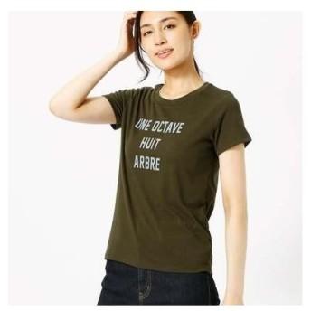 コムサイズム COMME CA ISM シンプルロゴTシャツ (カーキ)