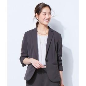 うすカル。カノコジャージーテーラードジャケット(上下別売りスーツ) (大きいサイズレディース)スーツ,women suits