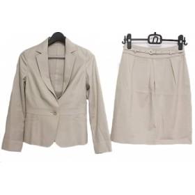 【中古】 ノーリーズ NOLLEY'S スカートスーツ サイズ36 S レディース ベージュ sophi