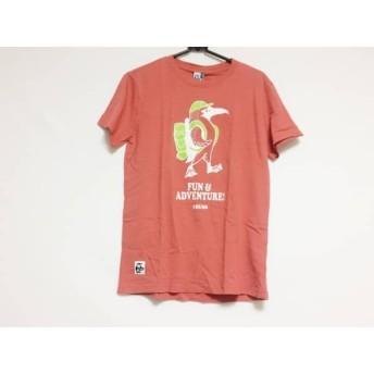 【中古】 チャムス CHUMS 半袖Tシャツ サイズS メンズ レッド 白 ライトグリーン