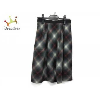 ジユウク 自由区/jiyuku スカート サイズ36 S レディース 黒×アイボリー×レッド チェック柄 スペシャル特価 20190815