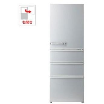 (標準設置 送料無料) アクア 355L 4ドア冷蔵庫(ミスティシルバー)(右開き) AQUA AQR-36H-S 返品種別A