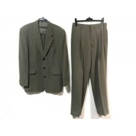 【中古】 ムッシュニコル monsieur NICOLE シングルスーツ サイズ50 メンズ ベージュ