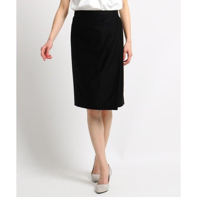 COUP DE CHANCE / クードシャンス 【洗える】ラップドレープタイトスカート