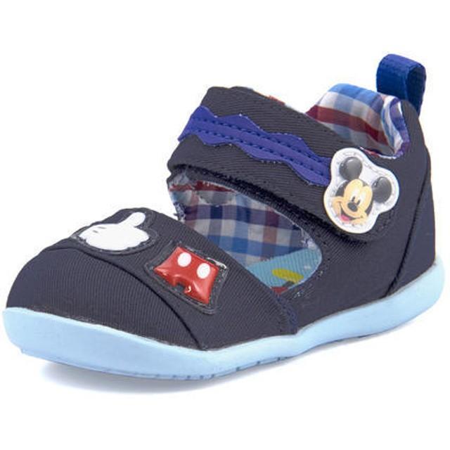 キッズ Disney(ディズニー) ミッキーマウス ベビー サマーシューズ(サンダル) DN B1231 ネイビー ファースト/ベビー