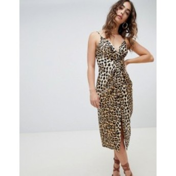 リバーアイランド レディース ワンピース トップス River Island leopard print cami dress Multi